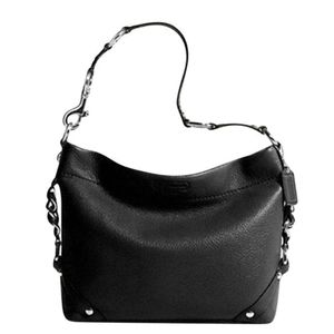 Coach Carly Black Leather Shoulder Bag